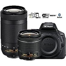Nikon D5600 DX-format Digital SLR w/AF-P DX NIKKOR 18-55mm f/3.5-5.6G VR & AF-P DX NIKKOR 70-300mm f/4.5-6.3G ED - (Certified Refurbished)