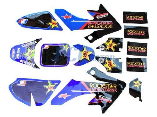 2L ROCKSTAR GRAPHICS DECALS & PLASTIC KIT HONDA CRF50 SDG 107 DE45+ PCC MOTOR