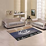 Happy More Custom Nautical Badges And Labels Area Rug Cover Indoor/Outdoor Decorative Floor Rug 7'x5'