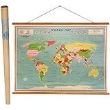dotcomgiftshop Vintage World Map Wall Chart