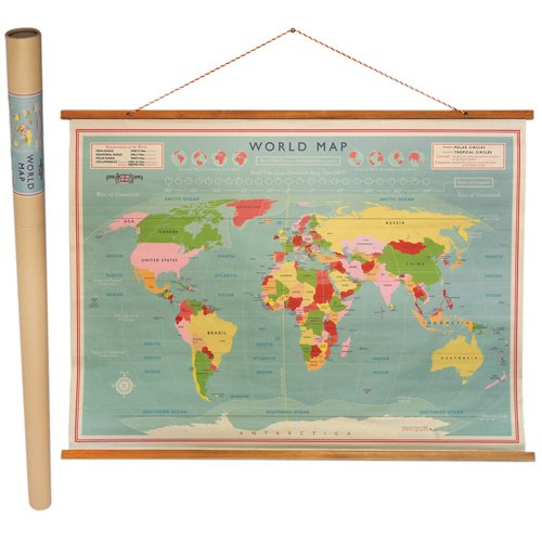 Vintage map wall hanging canvas print world map burlap tapestry dotcomgiftshop vintage world map wall chart gumiabroncs Gallery