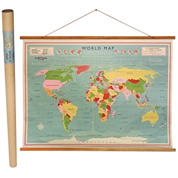 Dotcomgiftshop vintage world map wall chart amazon office dotcomgiftshop vintage world map wall chart gumiabroncs Gallery