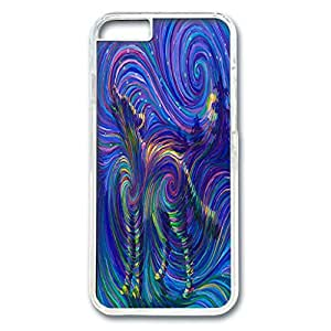 iPhone 6 Plus Case,Fashion Durable Transparent Side DIY design for Apple iPhone 6 Plus(5.5 inch),PC material iPhone 6 Plus Cover ,Safeguard Phone from Damage ,Designed Specially Pattern with Spirit Wolf Energy Painting.Maris's Diary