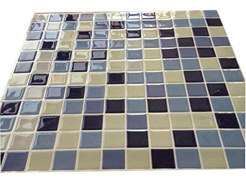 Piastrelle adesive in d gel effetto mosaico autoadesivo