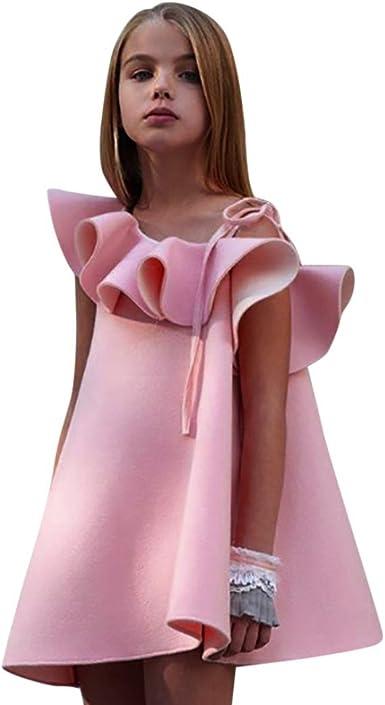 TM Toddler Kids Baby Girl Tulle Tutu Skirt Sleeveless Denim Bow Summer Dresses 1-9T Elevin