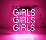 KUKUU Beer Neon Sign Pink Girls 12'' x 9.8'' for Home Bedroom Pub Hotel Beach Recreational Game Room Decor