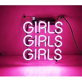 LiQi /™ Pink Girls Girls for Home Bedroom Pub Hotel Beach Recreational Game Room Decor 14 x 10