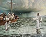 jesus picture - Jesus Walking On Water / Christian Art 8 x 10 / 8x10 GLOSSY Photo Picture