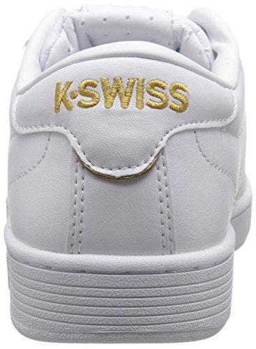 Scarpe 50th Da gold Hoke white 955 K 50th Bianco Uomo swiss Ginnastica weiß 1tnzZ