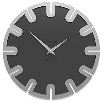 Reloj de pared digital Roland Color negro, 35 cm x 35 cm Made in Italy: Amazon.es: Hogar