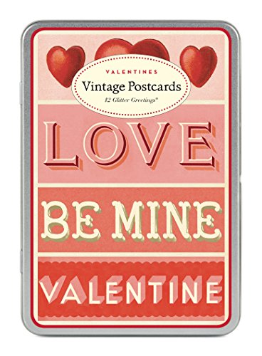 Cavallini Papers & Co. Cavallini Valentines Glitter Vintage Postcards]()