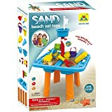 Sandbox 2-in-1 Sand and Water Wheel Table with Beach Sand Toys Set