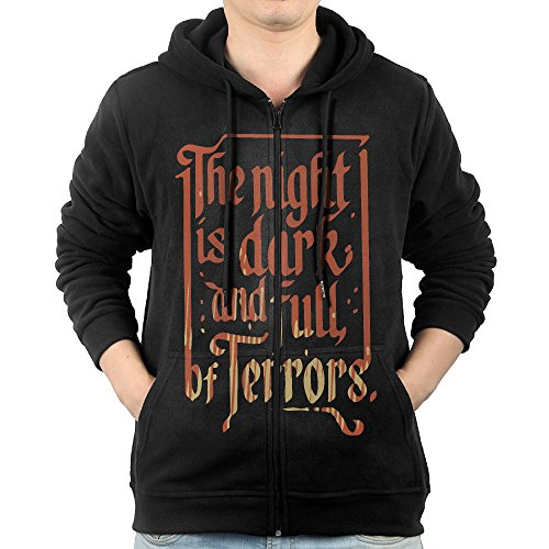 The Night Is Dark And Full Of Terrors Men's Zip Hoodie Sweatshirt