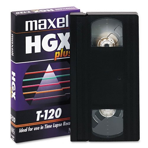 MAXELL T-120 HGX-PLUS Professional High Grade Videocassette for Time-Lapse Use (MAXELL T120HGXPLUS) (Discontinued by Manufacturer)