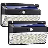 VOOE 228 LED zonnelampen voor buiten met bewegingsmelder, waterdicht en duurzaam, 270° zonnelampen voor buiten, 2 stuks
