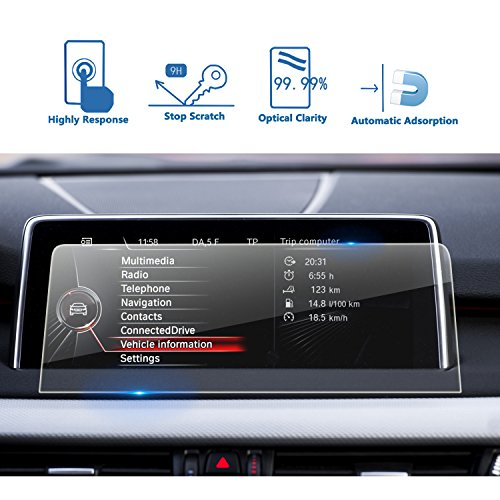 (LFOTPP Compatible Tempered Glass Navigation Info Center Touch Screen Protector Replacement for BMW X5 / X6 2014-2018 F15 F16 Screen, If)