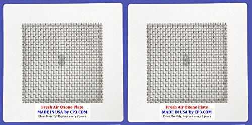 """2 Universal Ozone Plates MADE IN USA By CP3 Inc. 4.5"""" x 4.5"""" for Fresh Air EcoQuest Alpine Vollara GreenTech Spring Air Natures Air"""