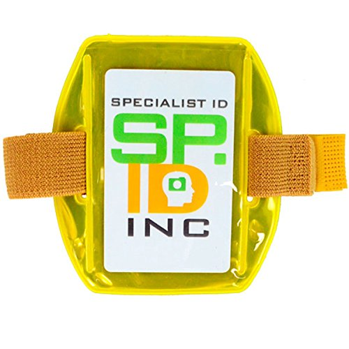 Reflective Yellow Armband ID Badge Holder by Specialist ID - Packaged and Sold Individually