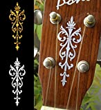 Headstock Inlay Stickers Decals - Small Torch SET