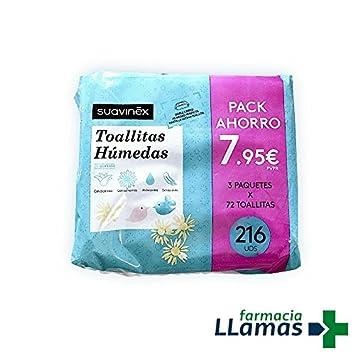 SUAVINEX TOALLITAS HUMEDAS TRIPLO 3X72=216 UNIDADES: Amazon.es: Salud y cuidado personal