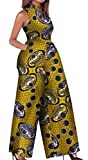 MLG Women Sexy Africa Graphic Print Sleevelesss Wide Leg Pants Bodysuit 3 XS