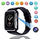 Bluetooth Smart Watch, DMDG Touch Screen Smartwatches with Camera Unlocked Smart Watches Cell Phone SIM Card Slot, Wrist Watch for Kids/Boys/Girls/Elder/Men/Women (Black)