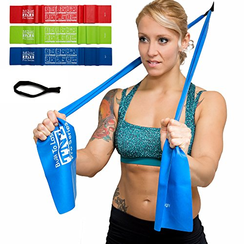 TNT Pro Series Exercise Stretch Bands Resistance Set