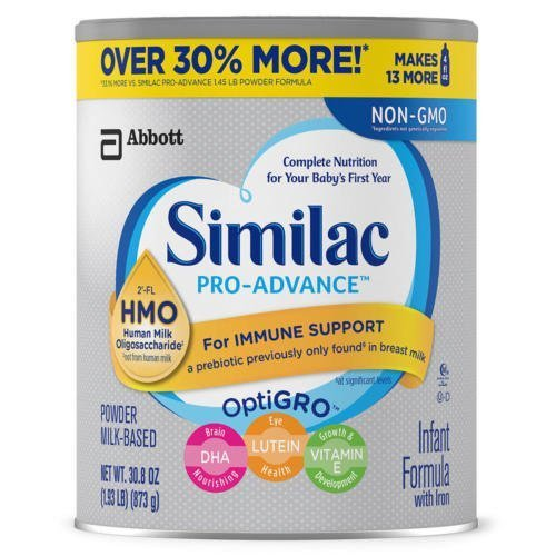 Similac pro-advance infant formula 2-FL HMO for immune support, 30.8 Ounce / 1.93 LB