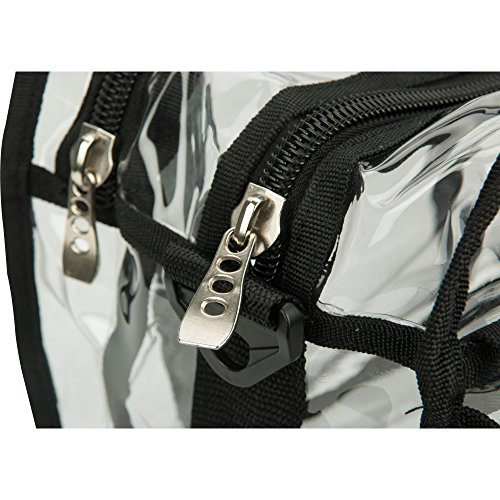 Casemetic Clear Set Bag Double Zippered Storage Compartment with 3 External Pockets and Shoulder Strap