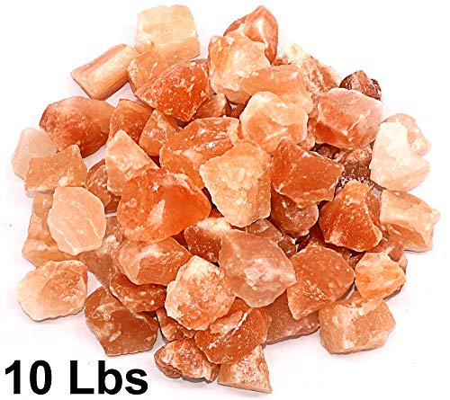 Spantik Himalayan Pink Salt Chunks 10 Lbs Bag 100% Authentic Pure Natural Rock Stones w 84 Traces Of Minerals Crystals | 1 .5 to 2.5 Inches X-Large chunks of rock himilian salt - Himalayan Salt Rocks