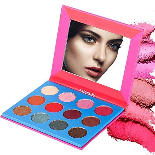 MISKOS Professional Highly Pigmented 12 Colors Eyeshadow Palette