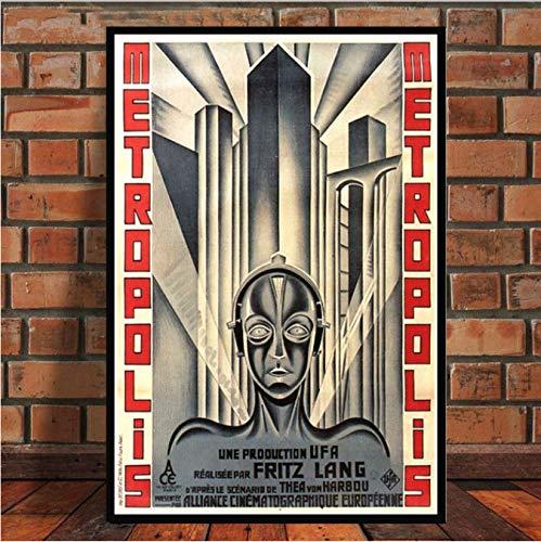 yhnjikl Poster and Prints Metropolis Germany Vintage Movie ...