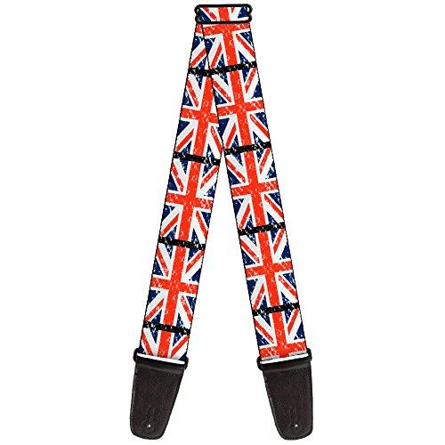 "Buckle-Down 2"" United Kingdom, Union Jack Flags Guitar Strap"