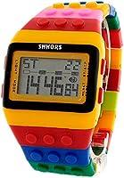 BLACK MAMUT Reloj SHHORS Digital Unisex Bloque de múltiples funciones. Carátula color Amarillo con Negro y un extensible de caucho de diferentes colores.