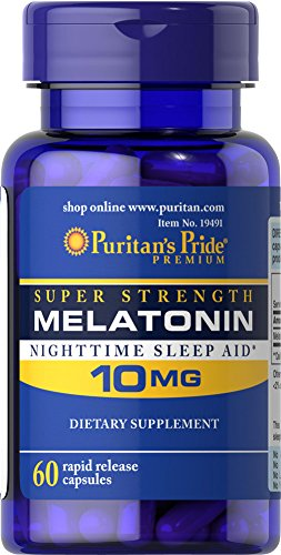 - Puritan's Pride Super Strength Melatonin 10mg Rapid Release Capsules, 60-Count