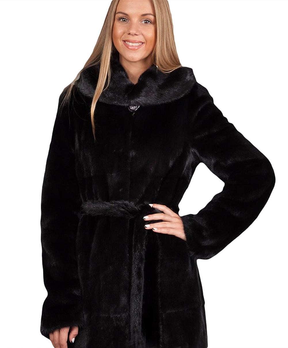 Style 2 LIVEINU Women Faux Fur Coat Jackets Luxury Winter Long Outerwear Parkas