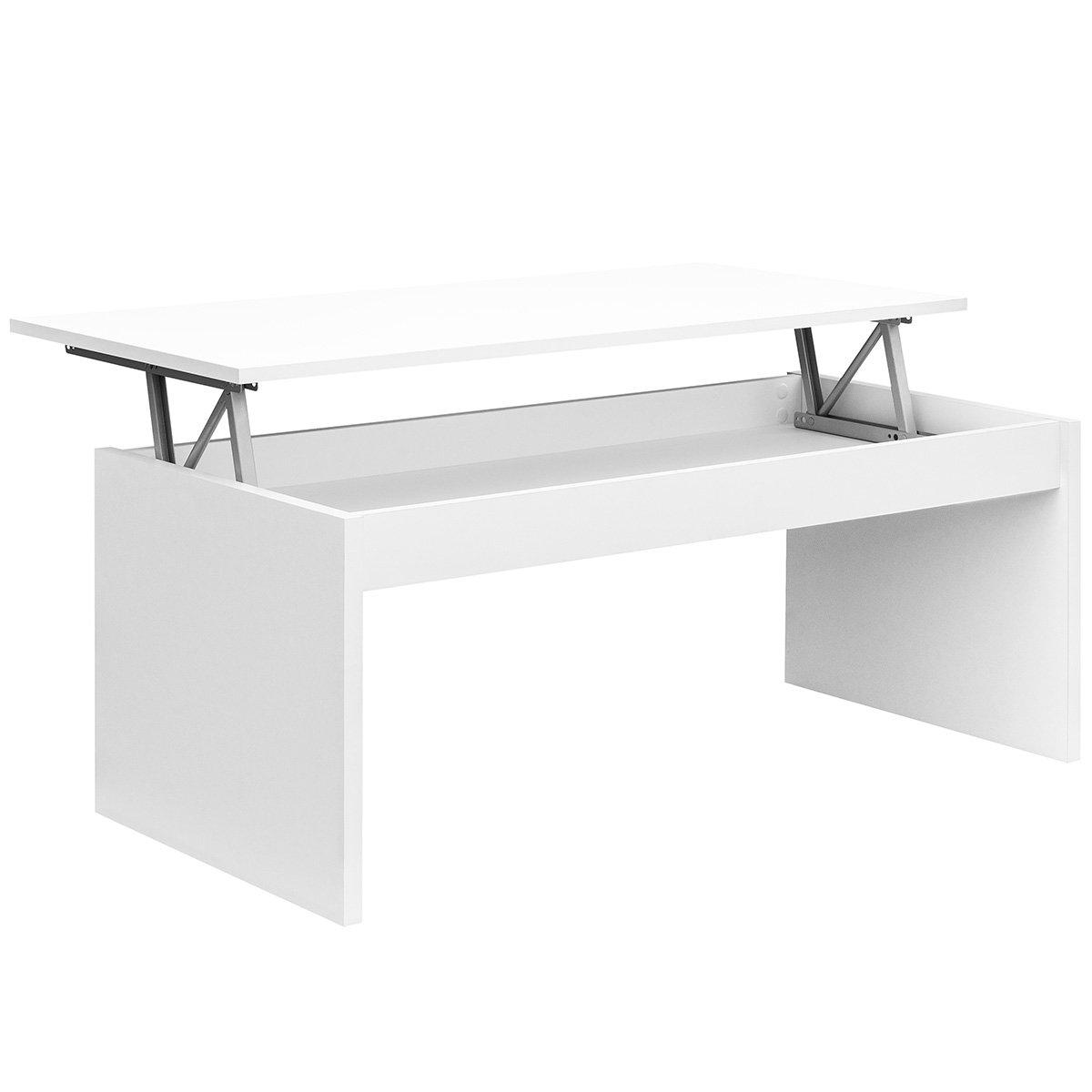 Comifort Table Basse Relevable Moderne Chevet De Cafe Salle A Manger