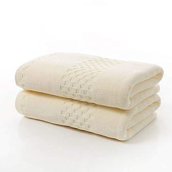 DUXX Toalla de baño de algodón de Lujo Hotel Toalla Set,Beige,70 * 140cm: Amazon.es: Hogar