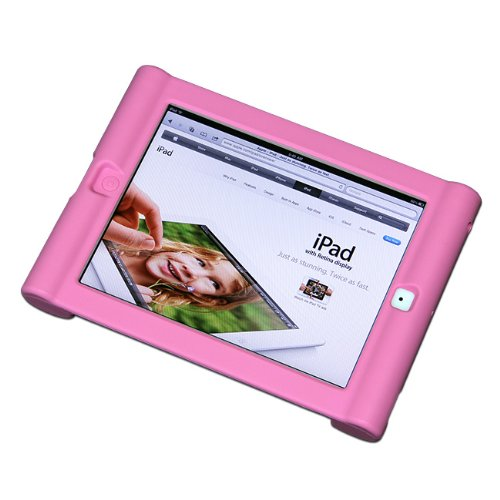 Maximal Power Shock Impact Proof Silicone Cover for Apple iPad 2, 3rd, 4th Generation Case, Pink (POU IPAD/PK) by MaximalPower (Image #2)