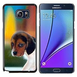 EJOOY---Cubierta de la caja de protección para la piel dura ** Samsung Galaxy Note 5 5th N9200 ** --Pocket Beagle Puppy Dog Harrier