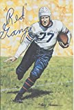 Harold Red Grange Autographed Goal Line Art Card Chicago Bears Hall of Fame inductee 1963