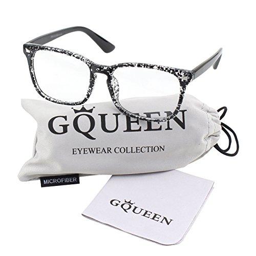 transparentes Black Grand surdimensionné PE2 GQUEEN clair lunettes cadre Spot corne a4Ydxdwq