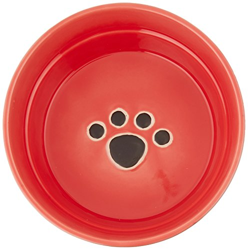 Ethical Stoneware Dish 6894 Fresco Dog Dish Red, 7 Inch by Spot (Image #1)
