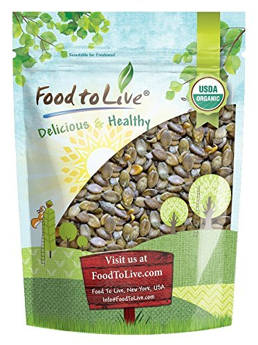 Organic Dry Roasted Pumpkin Seeds with Sea Salt, 2 Pounds — Non-GMO Kernels, Pepitas, Kosher, Vegan, No Shell