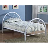 Monarch Specialties Metal Bed Frame, Twin, White