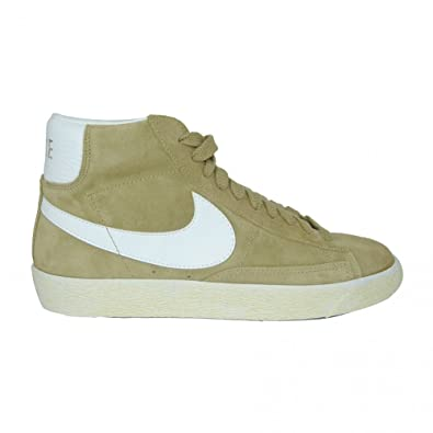 best loved ad373 79ab6 NIKE Blazer Mid Premium Suede in Filbert (Beige) and White 9.5uk
