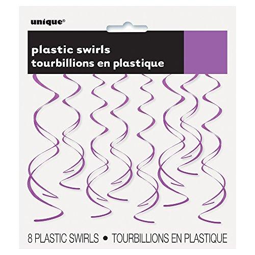 Plasting Hanging Swirl Purple Decorations