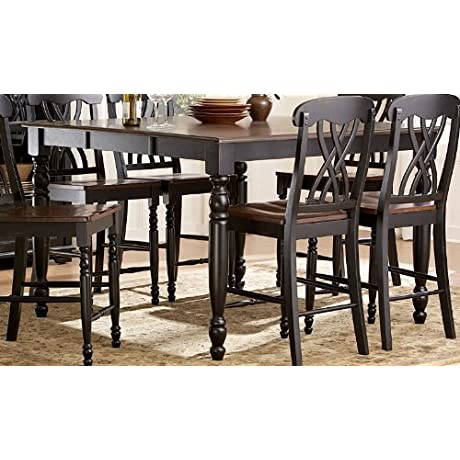 Homelegance Ohana Counter Height Table In Warm Cherry