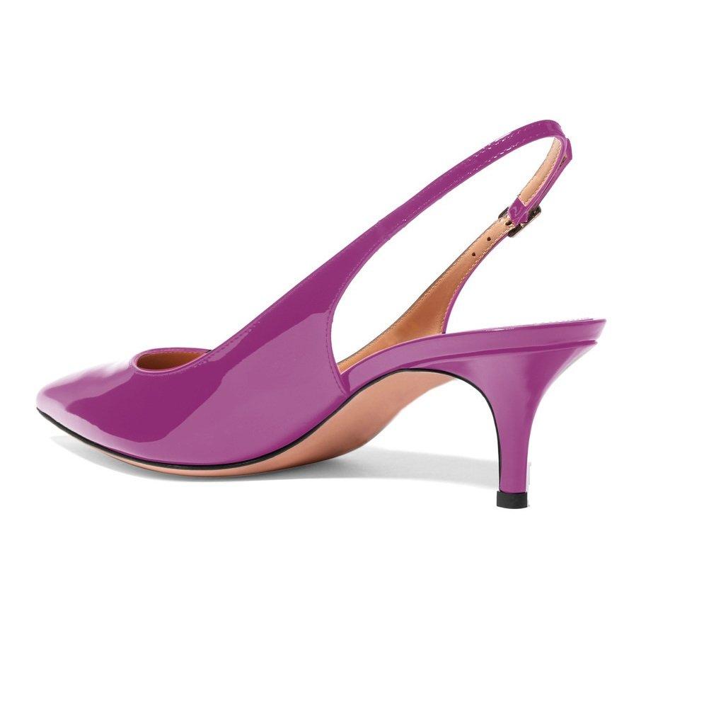 de8ab9e47ac ... Sammitop Women s Pointed Toe Slingback Shoes Kitten Heel Heel Heel  Pumps Comfortable Dress Shoes B077RVFCD2 7.5 ...
