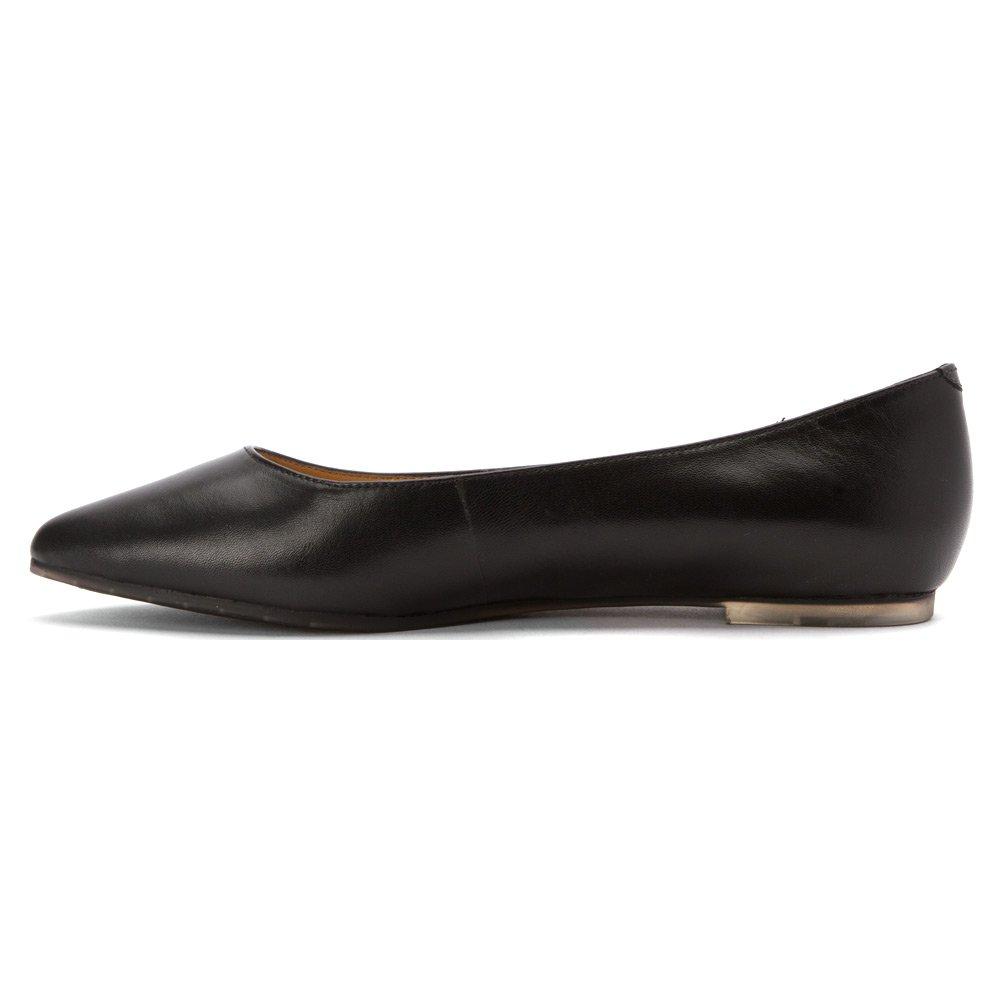 Me Too Women's Hailey Ballet Flat B01B3FBJ8C 7.5 B(M) US Black Leather